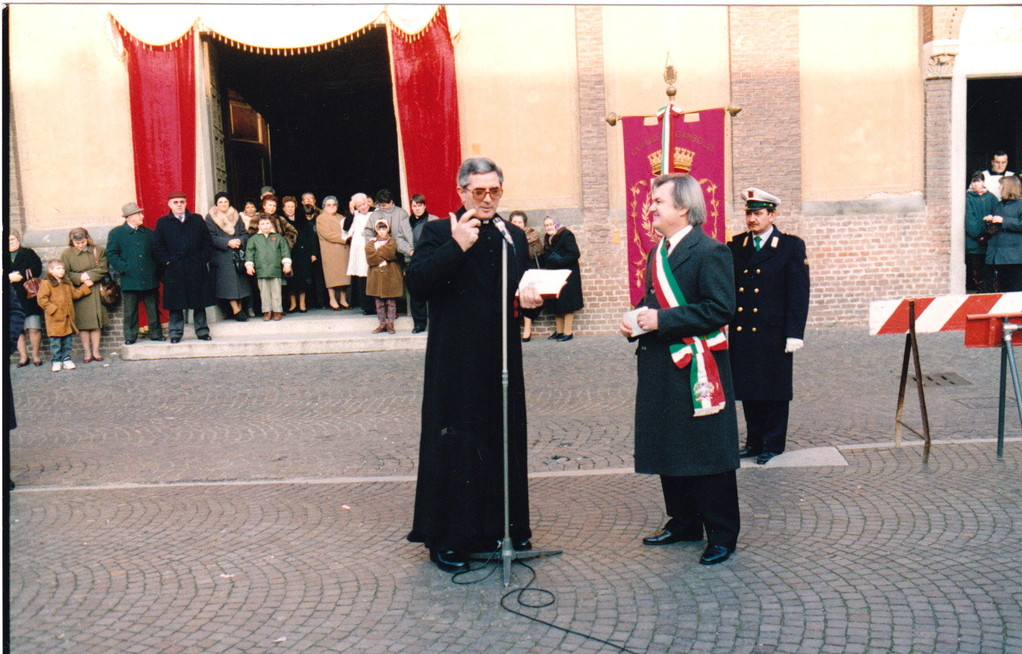 Beoppe sindaco incontra parroco