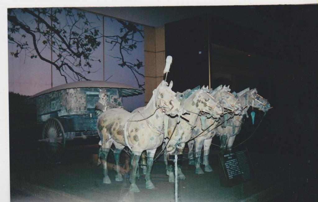 Xian - carro trainato da cavalli