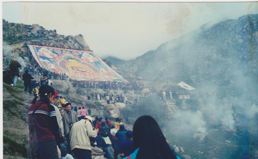 Lhasa - pellegrini estensione grande Tanka