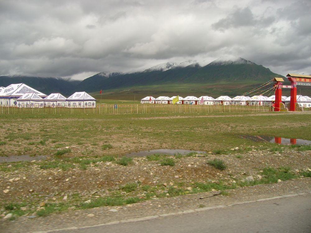 campo  di tende tibetane