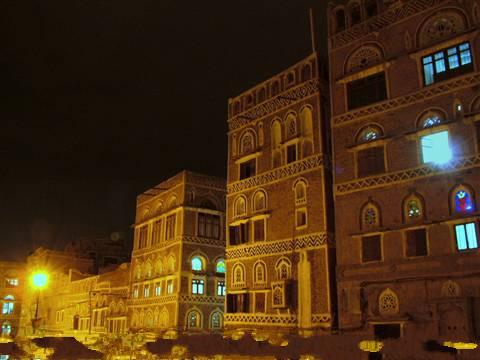 Yemen - Sana'a notte