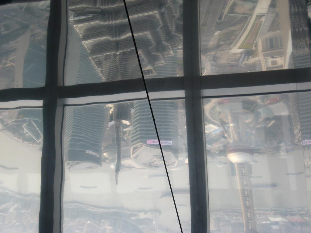 panorama riflesso sulle vetrate