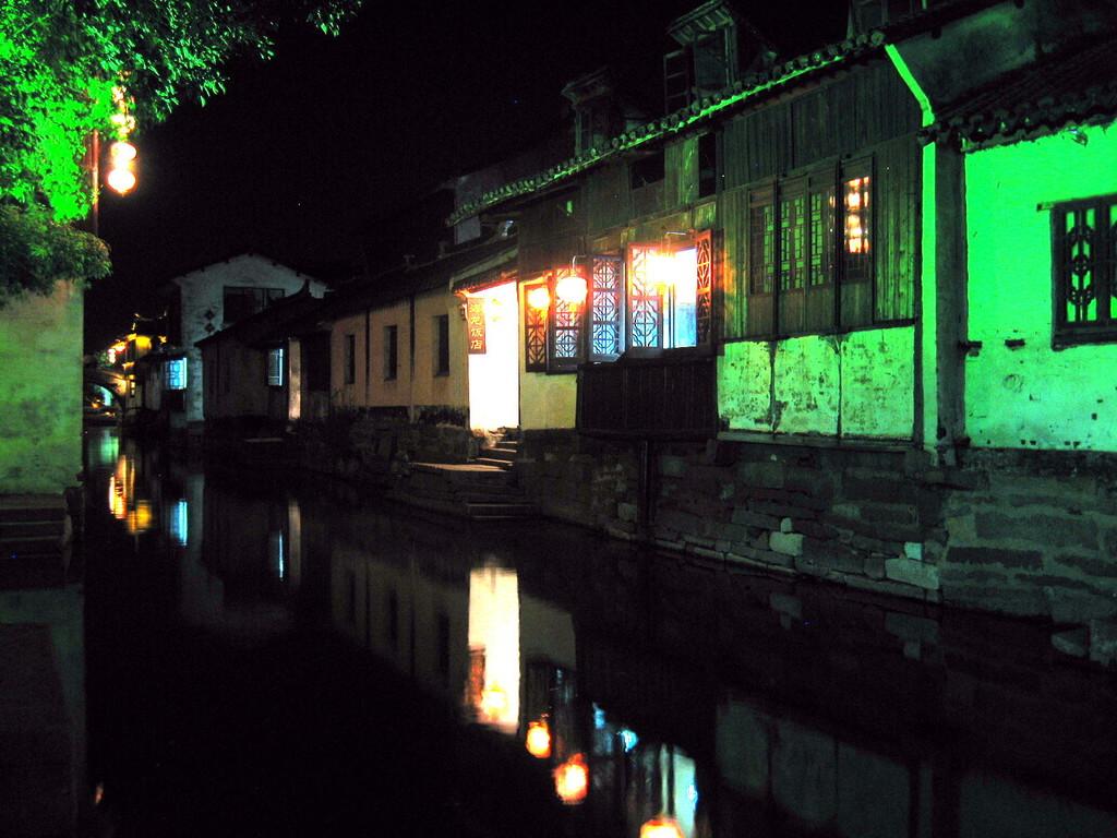 Zhouzhuang - casa da tè sul canale