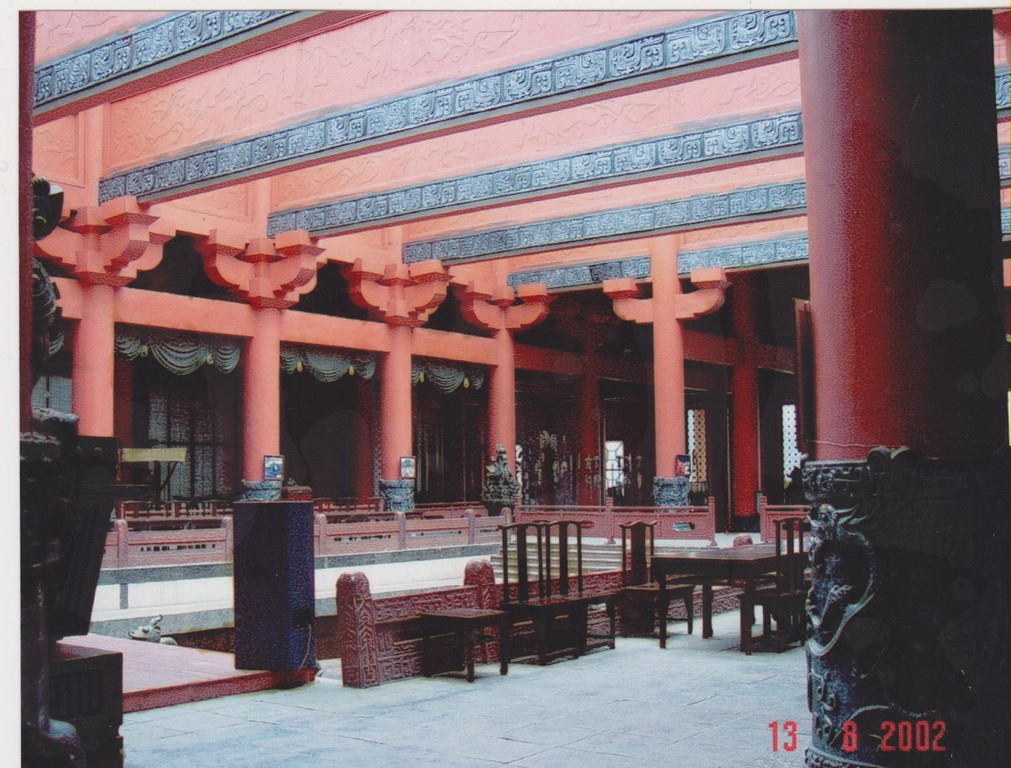 Zhejiang - Hendian - città del cinema - sala trono Qinshihuangdi