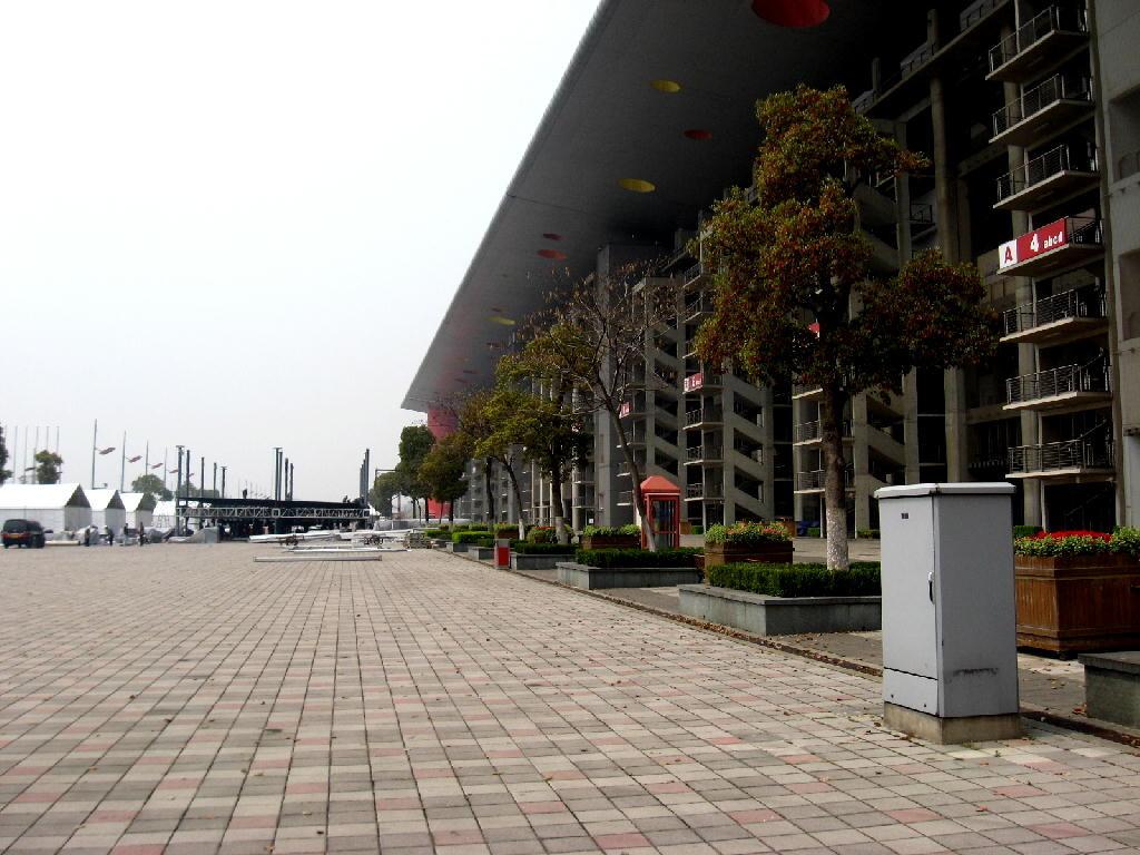 piazzale antistante le tribune centrali
