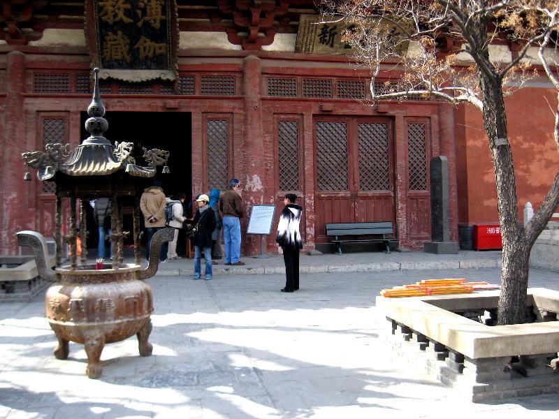 cortile del tempio Shuanlin
