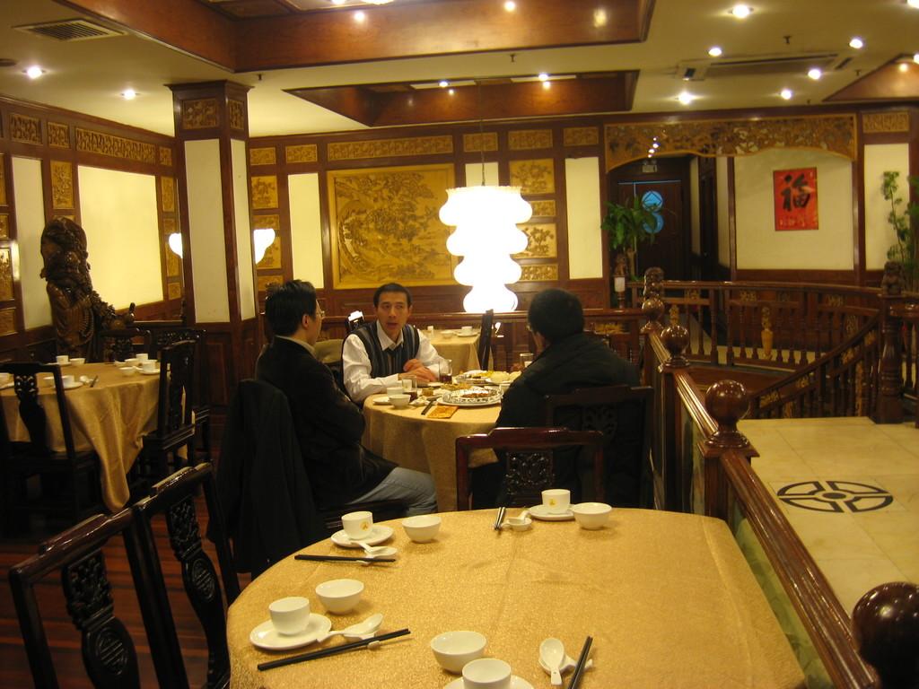 interno del ristorante del tempio del Buddha di Giada