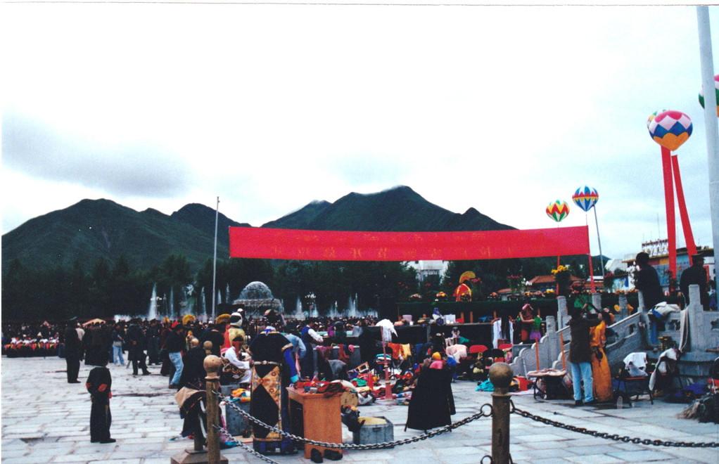 Lhasa piazza Potala
