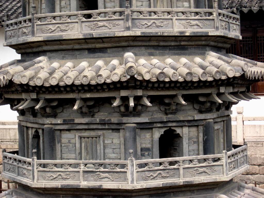 nanxiang - pagode, particolare