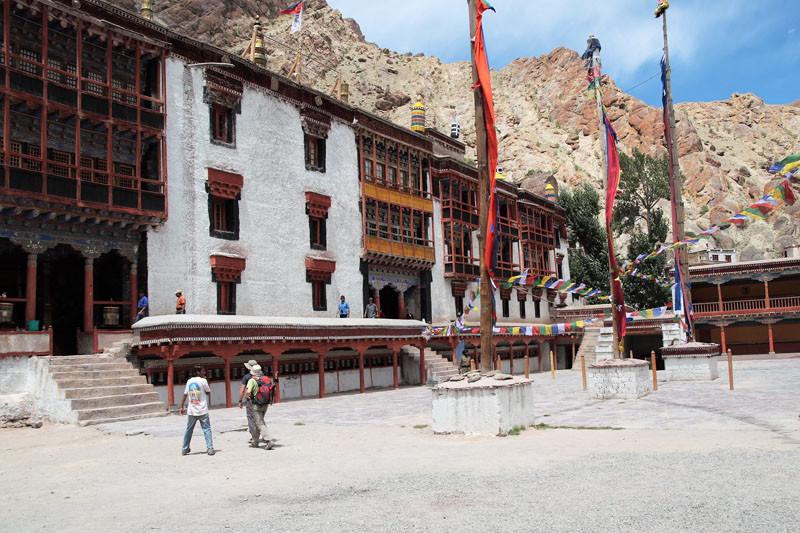 Ladak - monastero Tiksey, cortile