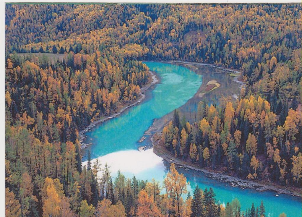 Sichuan - Jiuzhaigou - fiume e foresta