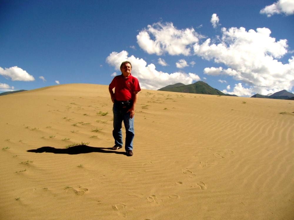 Beppe sulla stessa duna
