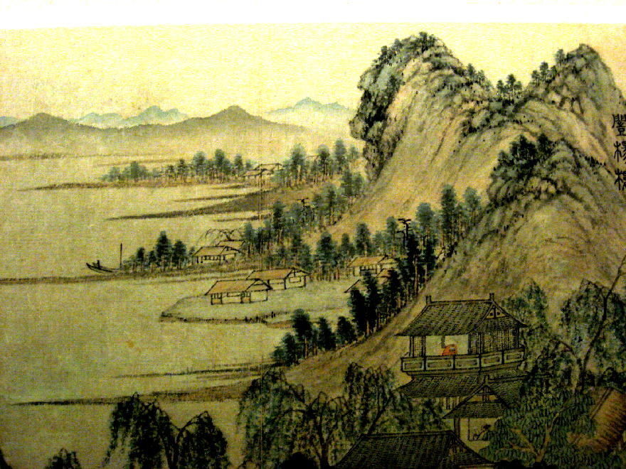 dipinto dinastia Ming - Wenzheng ming  文征明 - lago dell'Ovest 西湖