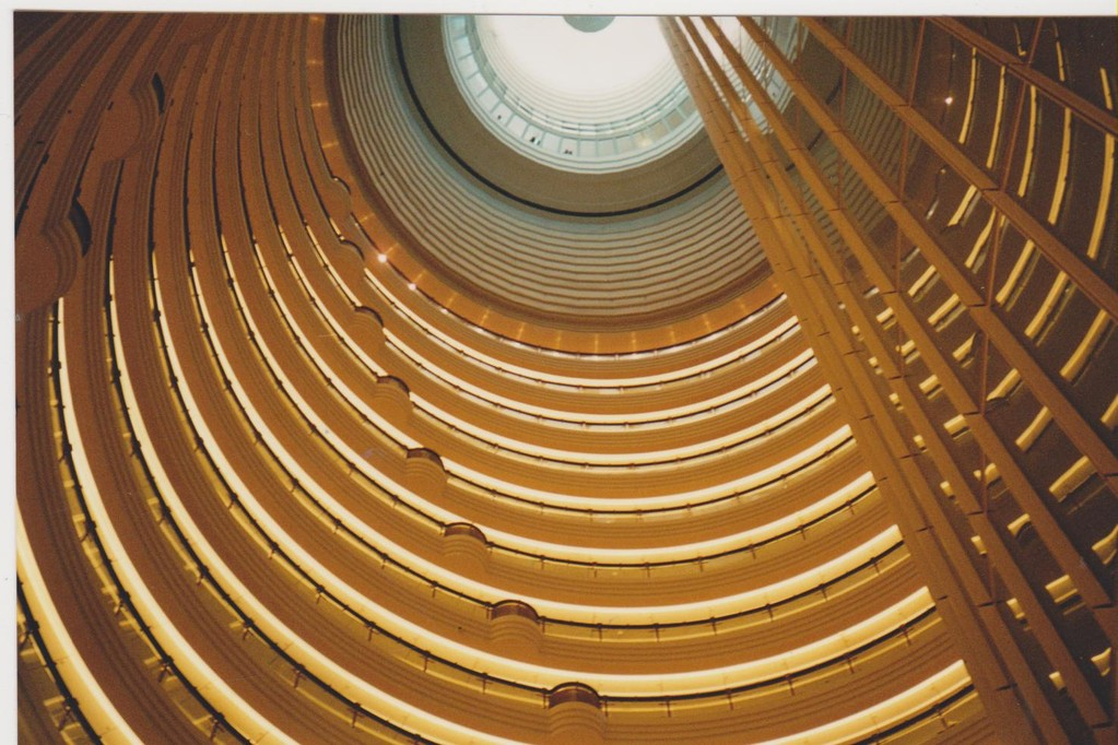 Grand Hyatt hotel - Jin Mao tower - interno visto dalle camere