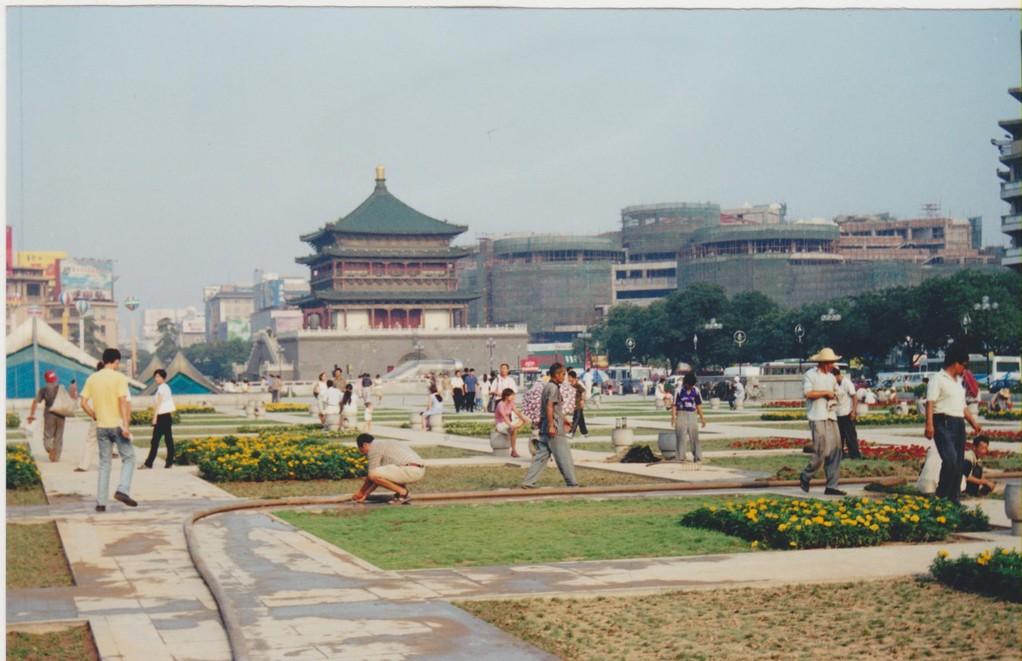Xian - piazza centrale e torre del tamburo