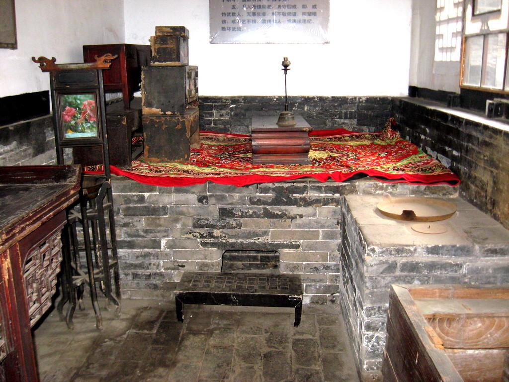 il letto, Khang, in mattoni riscaldato con fuoco di legna