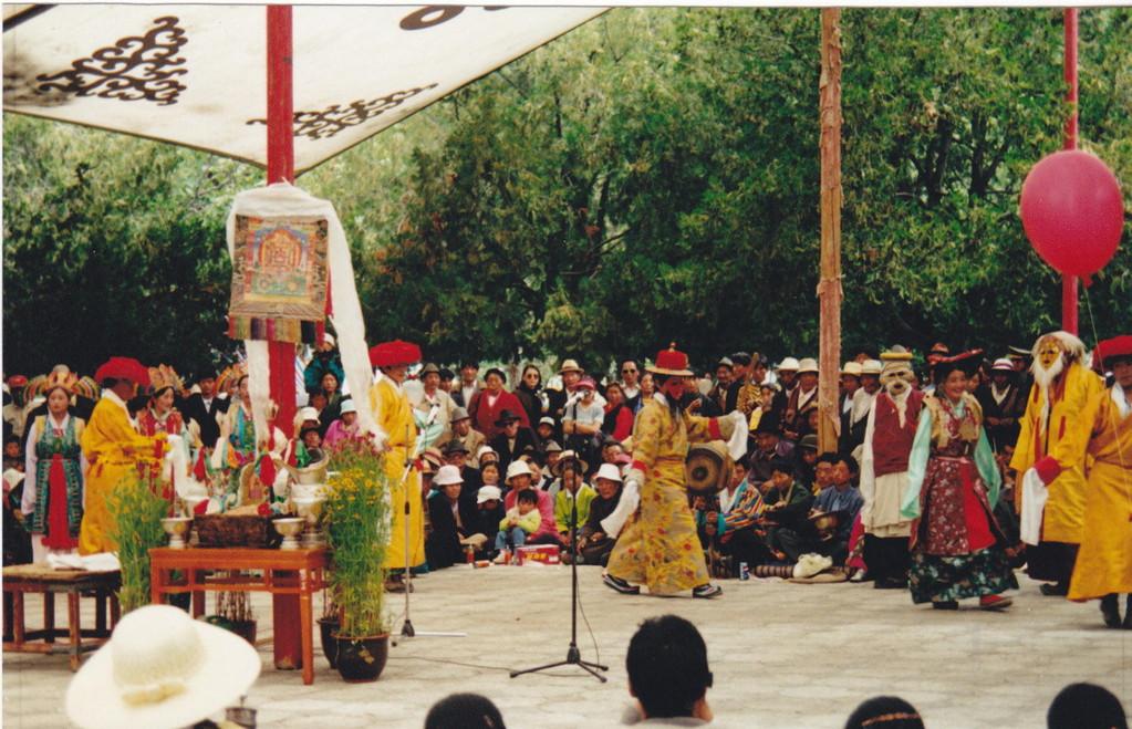 Lhasa Norbulinka Palazzo d'estate del Dalai lama
