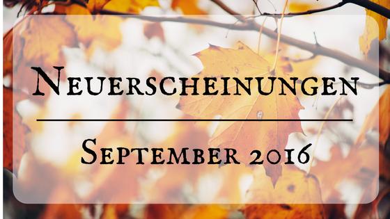 [Neuerscheinungen] September 2016