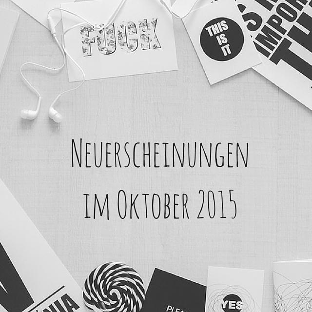 [Neuerscheinungen] Oktober 2015