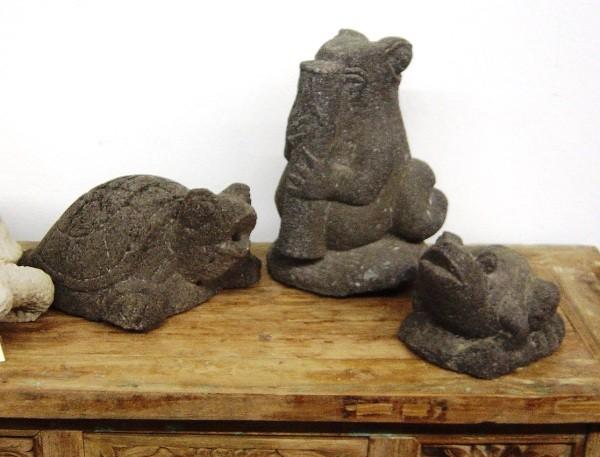 Stonecarving aus Lavastein