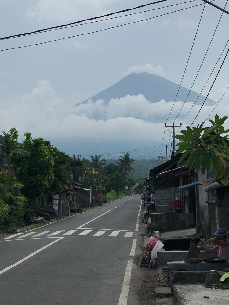 Der Blick auf den Mount Agung