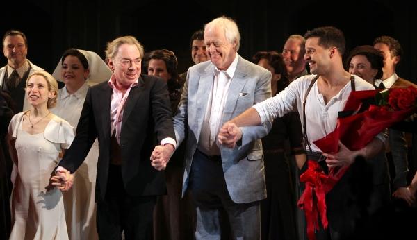 Elena Roger, Andrew Lloyd Webber, Tim Rice et Ricky Martin - Evita - Broadway 2012
