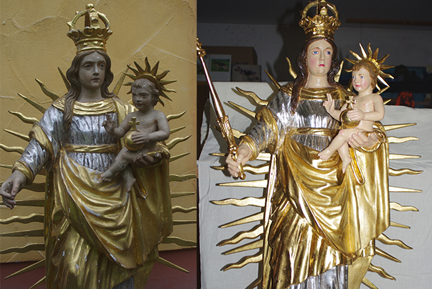 Restaurierte Madonna mit Kind   © Andrea Back