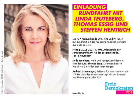 Rundfahrt mit Linda Teuteberg und Thomas Essig