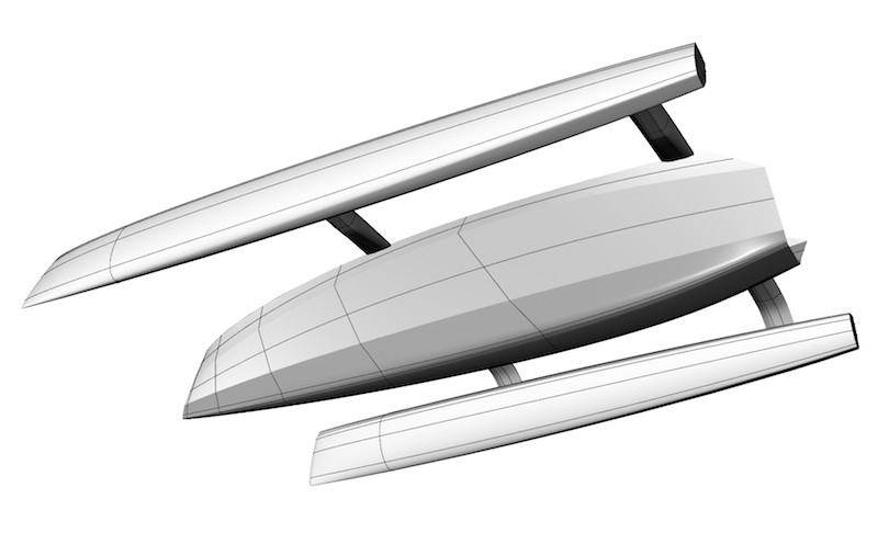 RAW30 trimaran - redesign