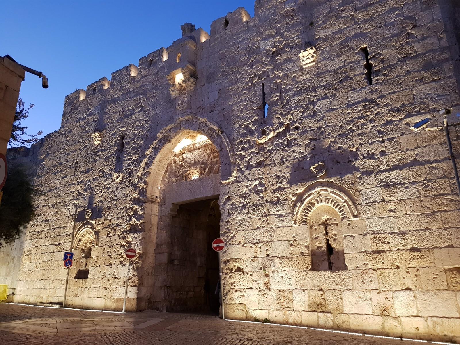 Zionstor in der Jerusalemer Altstadtmauer
