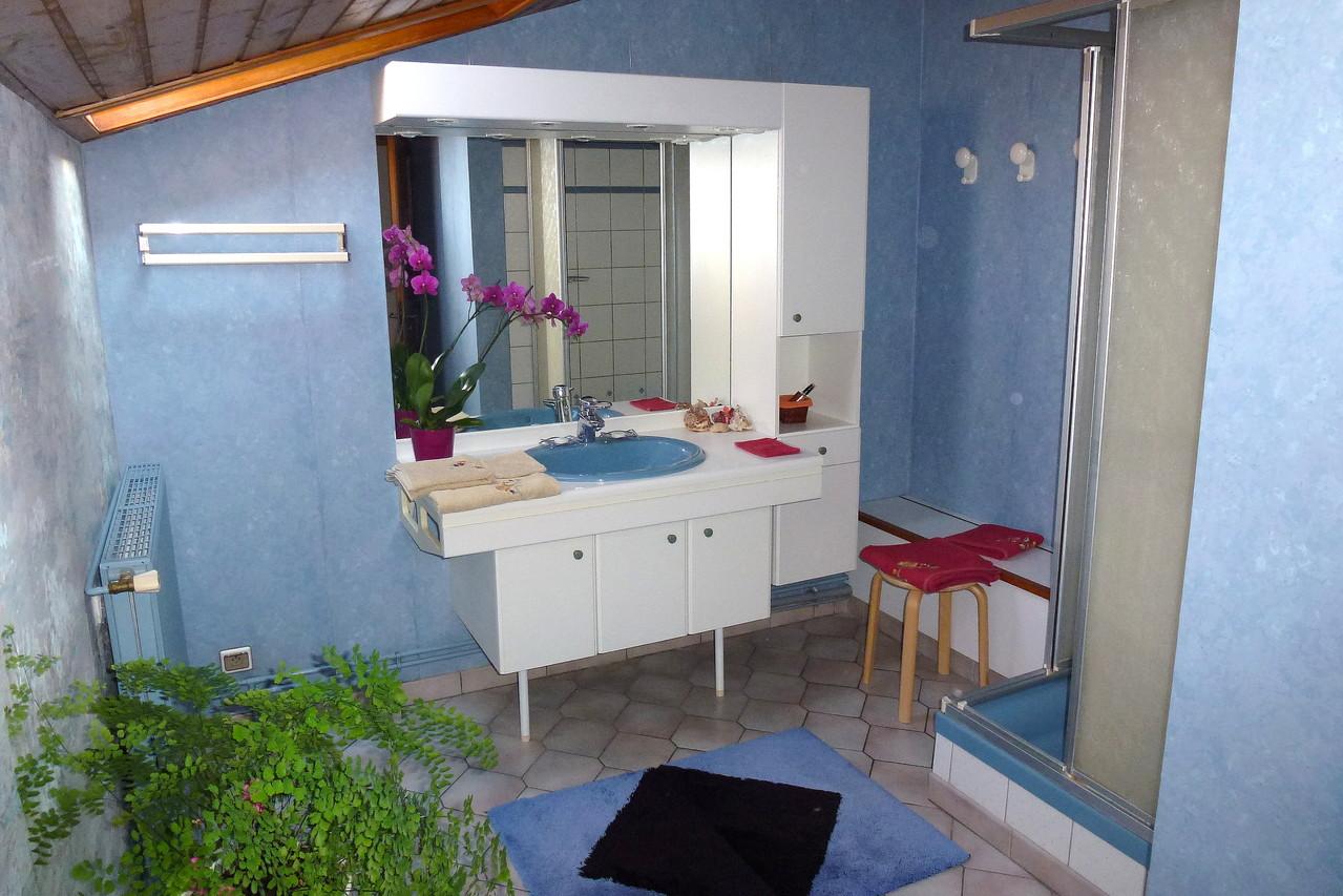 Salle de bains avec douche 90 cm.