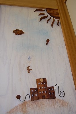 木 ドア 個性的