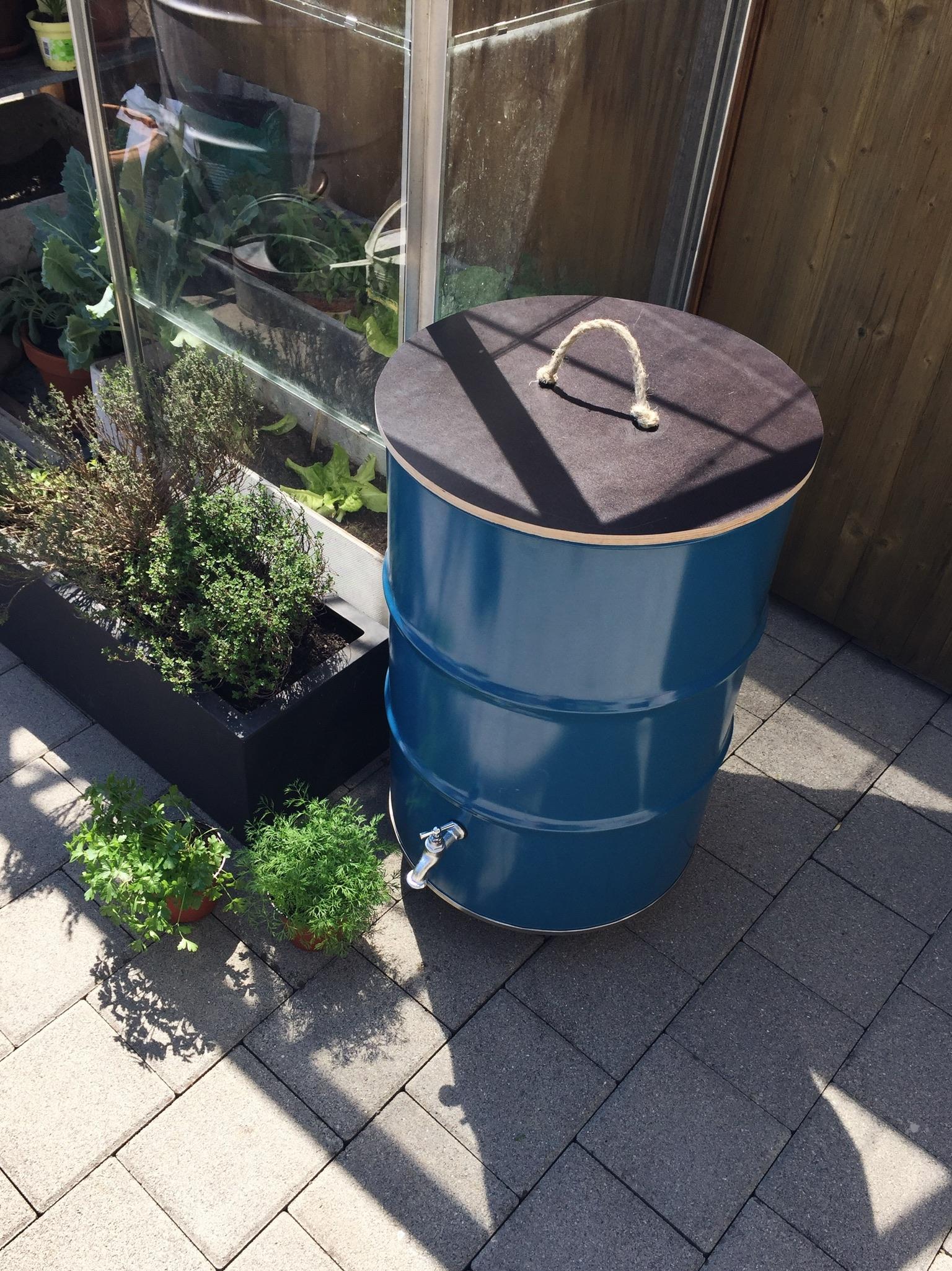 blog: upcycling regentonne - buitig, do it yourself, heimwerken