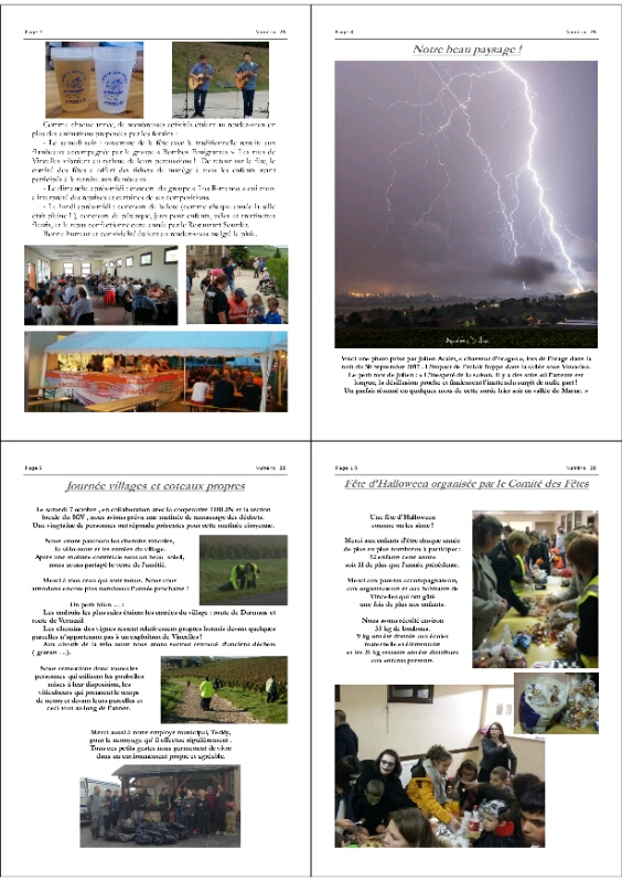 Dans le bulletin municipale de la ville de Vincelles dans la Marne(51)