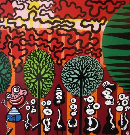 Di Rosa, Ballade en forêt (1991)