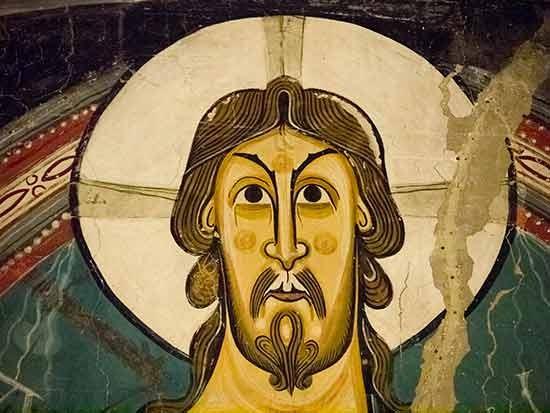 le christ pantocrator de l'église san clemente de tahull