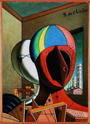 De Chirico, Les masques, (1973)