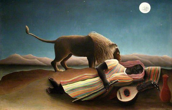 Henri Rousseau, La bohémienne endormie (1897)