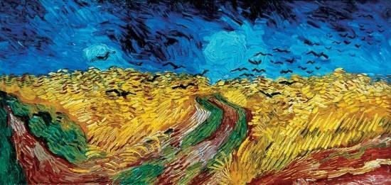Vincent Van Gogh Champ de Blé aux Corbeaux (1890)