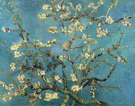 Branches of an Almond Tree in Bloom, Van Gogh 1890