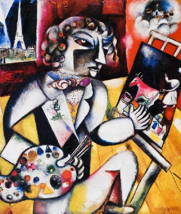 Marc Chagall - L'autoportrait aux sept doigts - 1912/1913