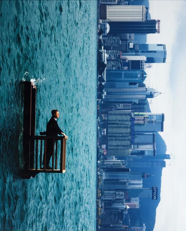 Philippe Ramette - Balcon II Hong Kong - 2001