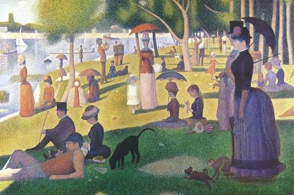 un dimanche après-midi à l'Ile de la Grande Jatte, de Georges Seurat 1886