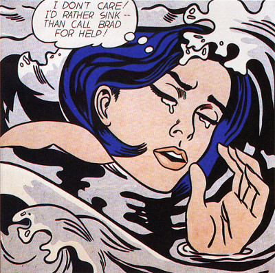 Drowning Girl (1963) lichtenstein toy