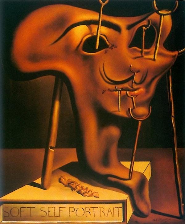 Salvador Dali - Autoportrait avec bacon - 1941