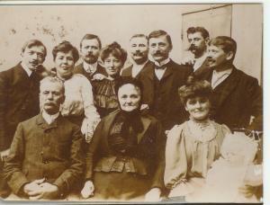 Photographie de la famille Muller, verrier à Lunéville