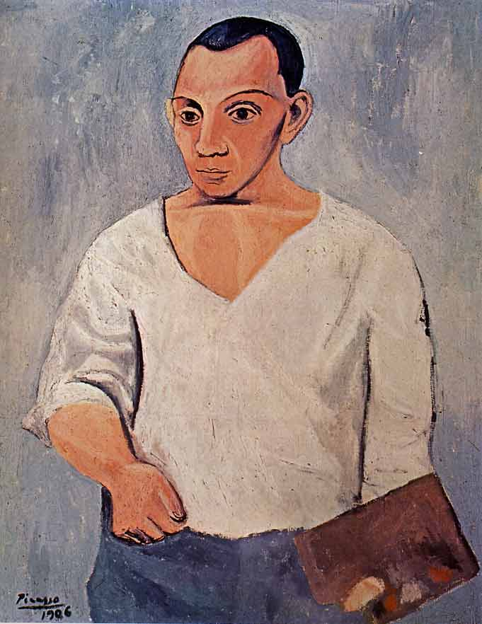 Pablo Picasso - Autoportrait à la palette - 1906