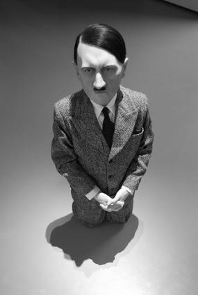hitler him cattelan sculpture