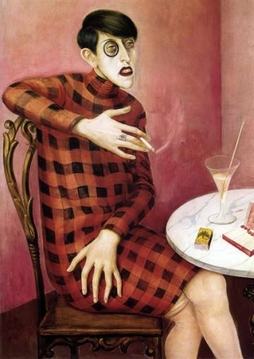 Portrait de la journaliste Sylvia Von Harden (1926) otto dix