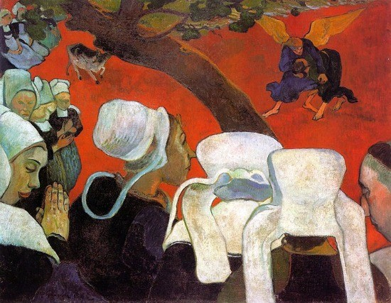 La vision du sermon 1888 paul gauguin